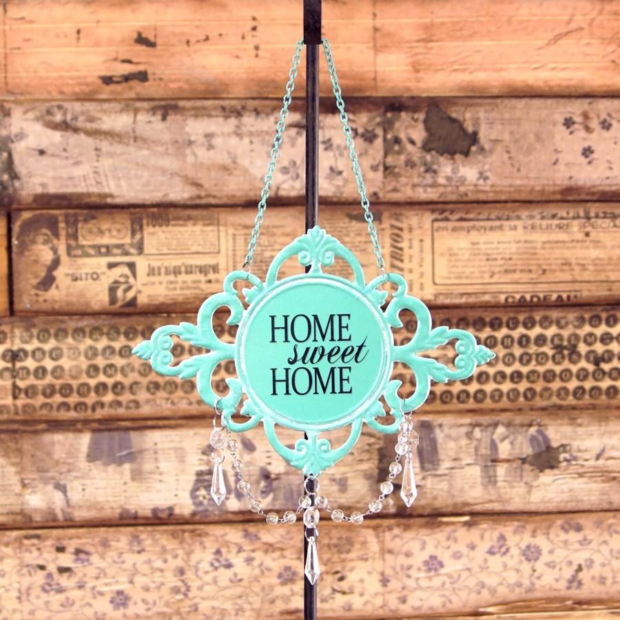 |MTL. JEWELED SIGN 'HOME SWEET HOME' (96/cs)|