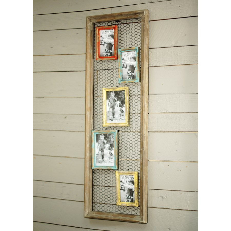 |WD. FRAMES W/CHICKEN WIRE BACK (4/cs)|