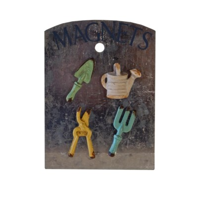 |MTL. GARDEN MAGNETS SET/4 (96/cs)|