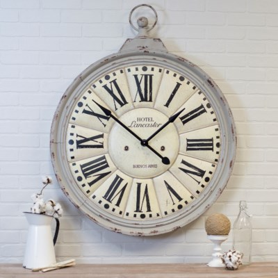 MTL. WALL CLOCK GRAY (1/cs)