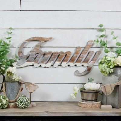 WD. FAMILY WORD ART (8/cs)