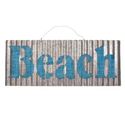  MTL. CORRUGATED BEACH SIGN (24/cs) 