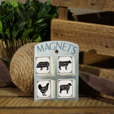  WD. FARM ANIMAL MAGNETS (72/cs) 