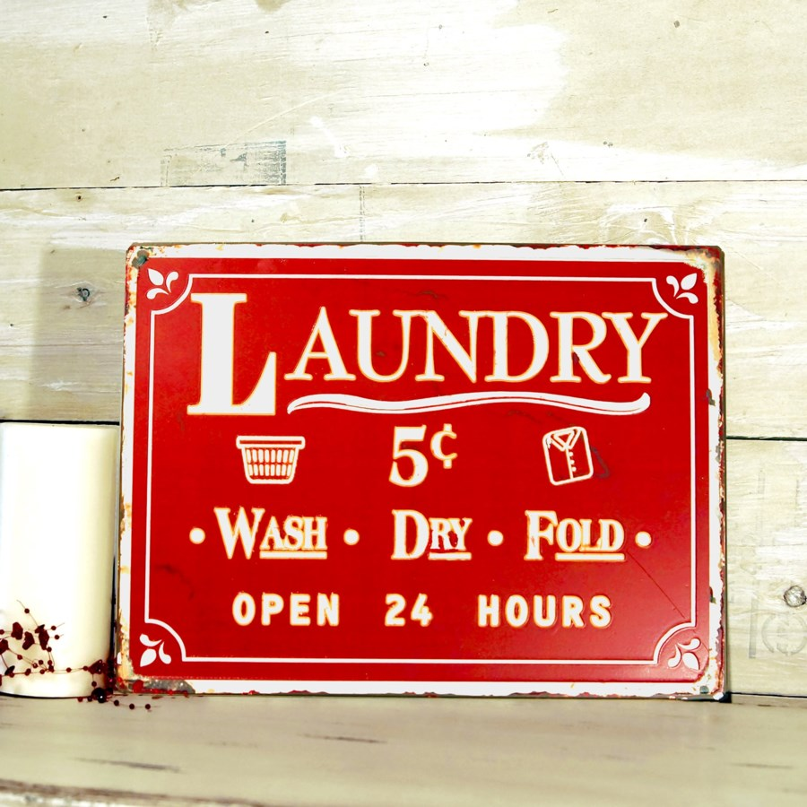 "|MTL. SIGN ""LAUNDRY"" (24/cs)