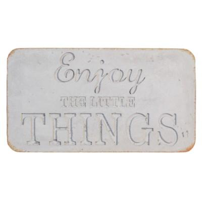 " CONCRETE SIGN ""ENJOY THE LITTLE THINGS"" (4/cs) "