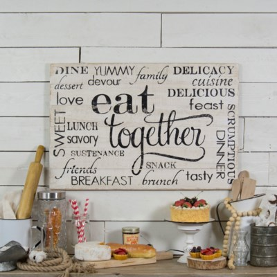 "WD. SIGN ""EAT TOGETHER"" (6/cs)"