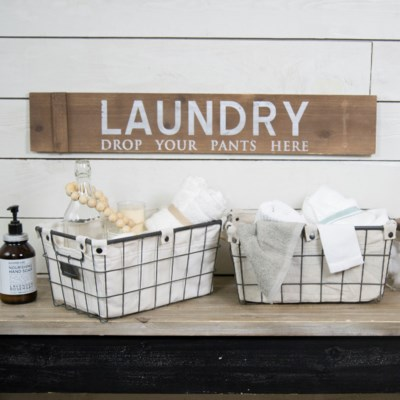 "WD. SIGN ""LAUNDRY"" (12/cs)"
