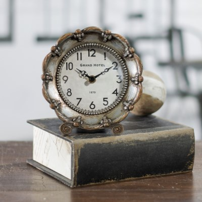 MTL. TABLE CLOCK (12/cs)