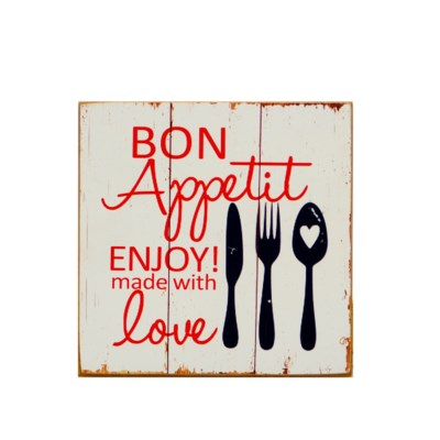 "|WD. SIGN ""BON APPETIT"" (36/cs)