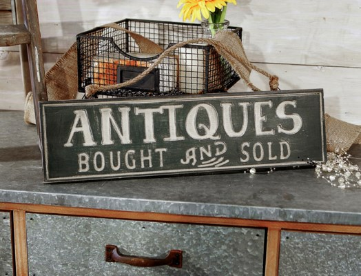 "|WD. SIGN ""ANTIQUES"" (12/cs)