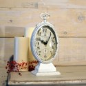 MTL. TABLE CLOCK WHITE (16/cs)