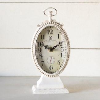 MTL. TABLE CLOCK WHITE (16/cs)