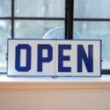 |MTL. OPEN/CLOSED SIGN BLUE (8/cs)|