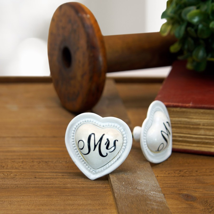 "|PEWTER KNOB ""MRS.""