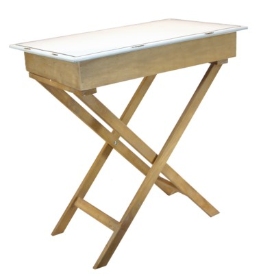 WD. TABLE W/ ENAMEL TOP (1/cs)