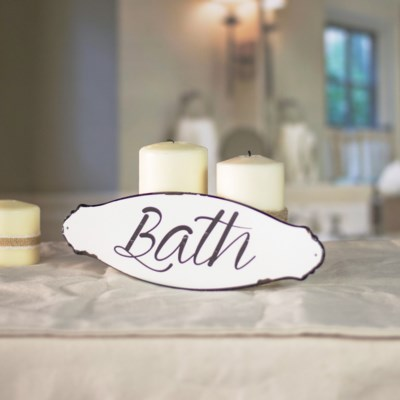 """MTL. SIGN """"BATH"""" (48/cs)"""