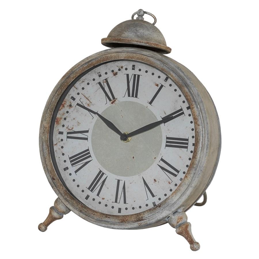 MTL. TABLE CLOCK (6/cs)