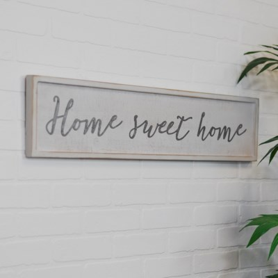 """WD. SIGN """"HOME SWEET HOME"""" (8/cs)"""