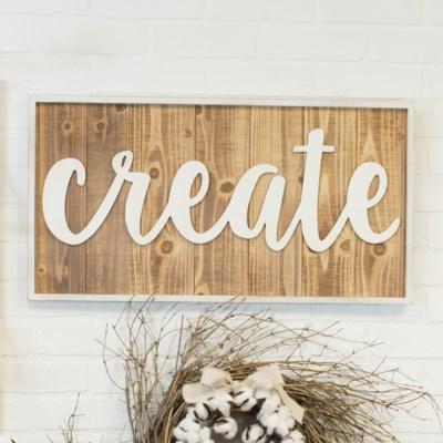 "WD. WORD ART ""CREATE"" (6/cs)"