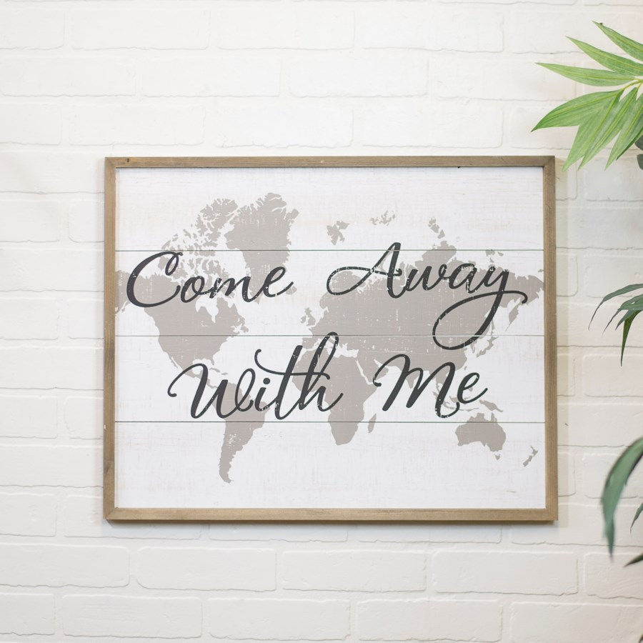 """WD. SIGN """"COME AWAY WITH ME"""" (6/cs)"""