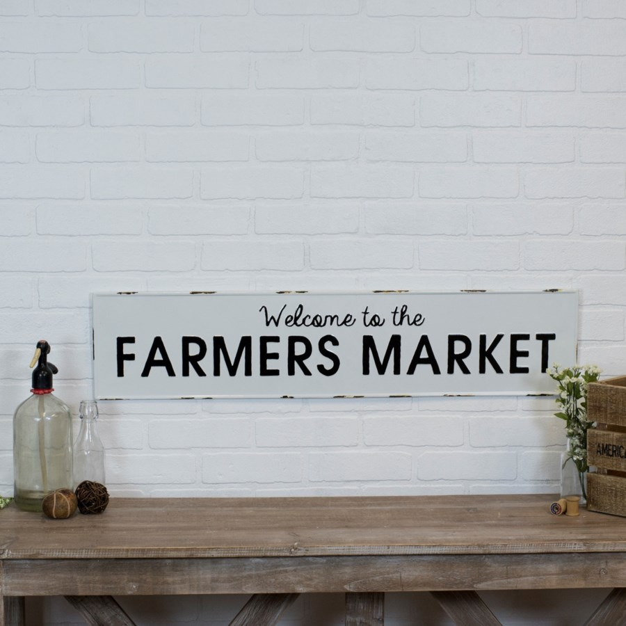 """MTL. SIGN """"FARMERS MARKET"""" (8/cs)"""