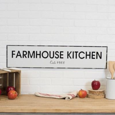 "MTL. SIGN ""FARMHOUSE KITCHEN"" (8/cs)"