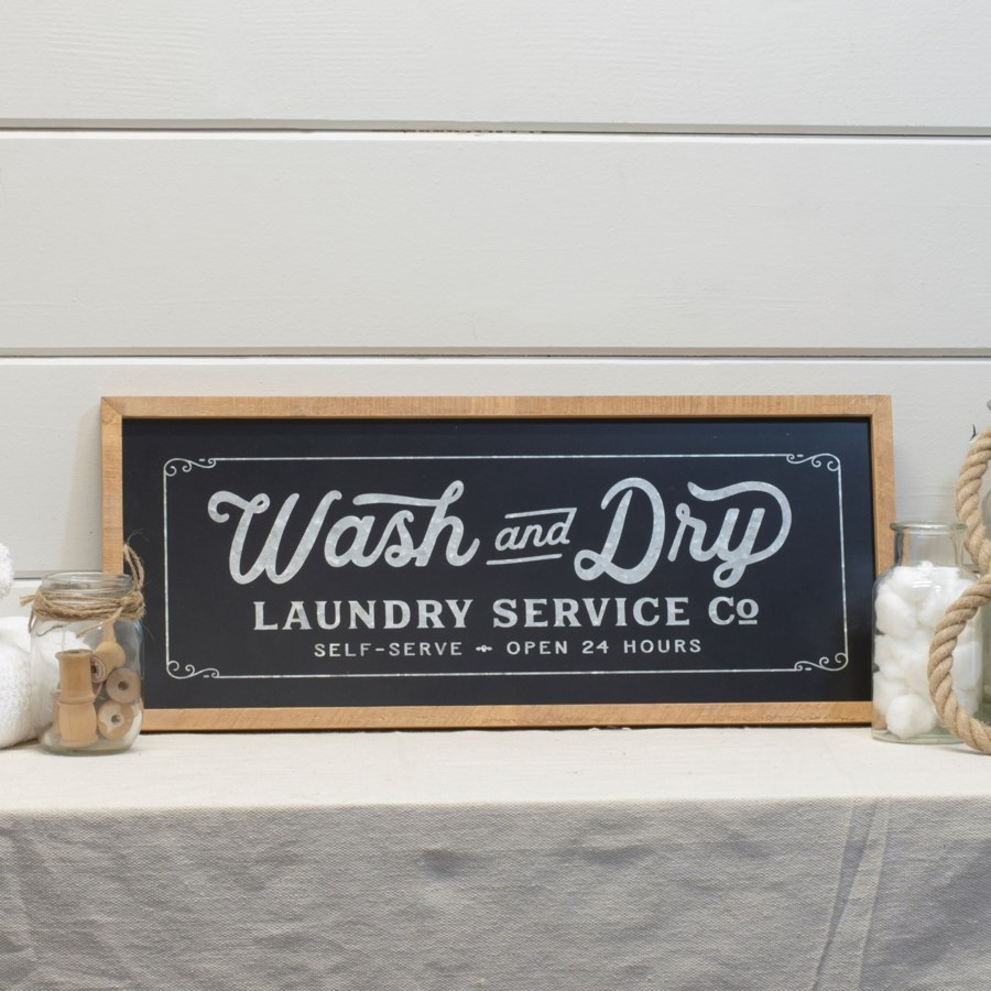 WD./MTL. LAUNDRY SIGN (6/cs)
