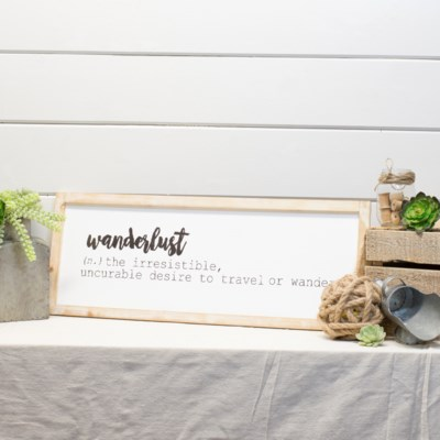 "WD. SIGN ""WANDERLUST"" (3/cs)"