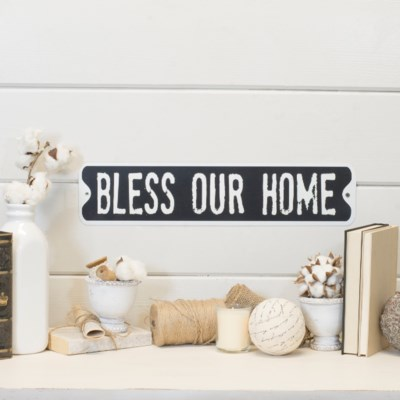 """MTL. SIGN """"BLESS OUR HOME"""" (30/cs)"""