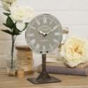 MTL. TABLE CLOCK GREY (16/cs)
