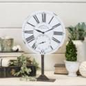 MTL. TABLE CLOCK WHITE (6/cs)