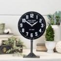 MTL. TABLE CLOCK BLACK (8/cs)