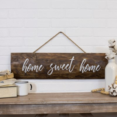 """WD. SIGN """"HOME SWEET"""" (4/cs)"""