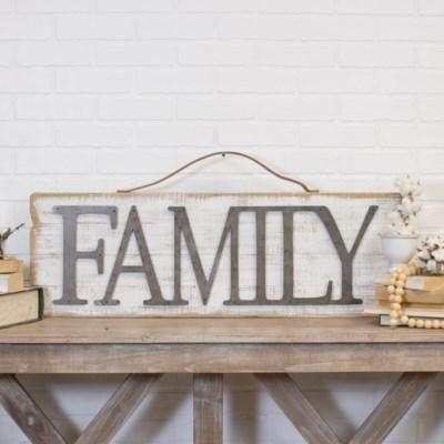 "WD. WORD ART ""FAMILY"" (4/cs)"