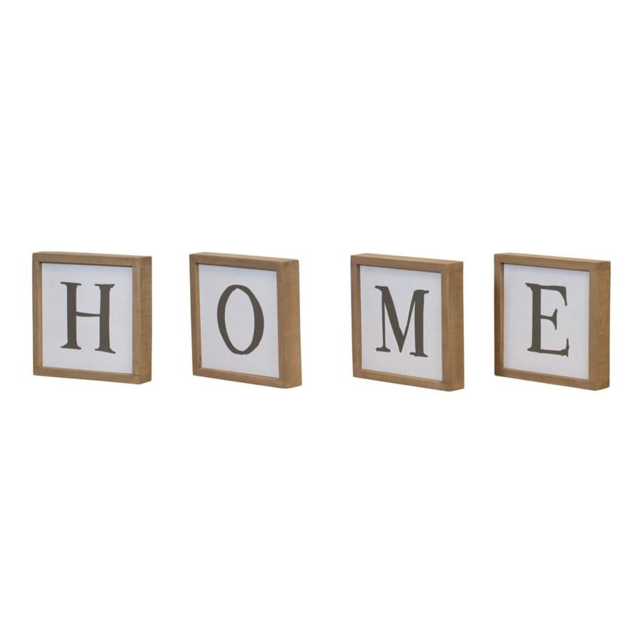 "WD. ""HOME"" WORD ART (6/cs)"