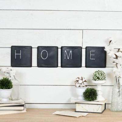 """MTL. WORD ARTS """"HOME"""" (24 sets/cs)"""