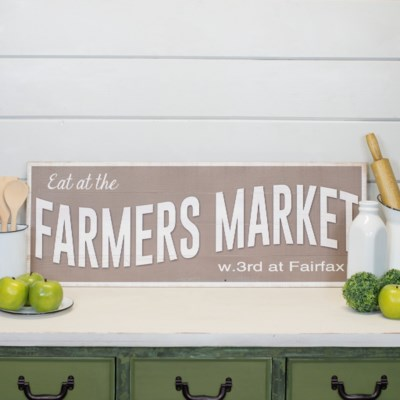 "WD. SIGN ""FARMERS MARKET"" (4/cs)"