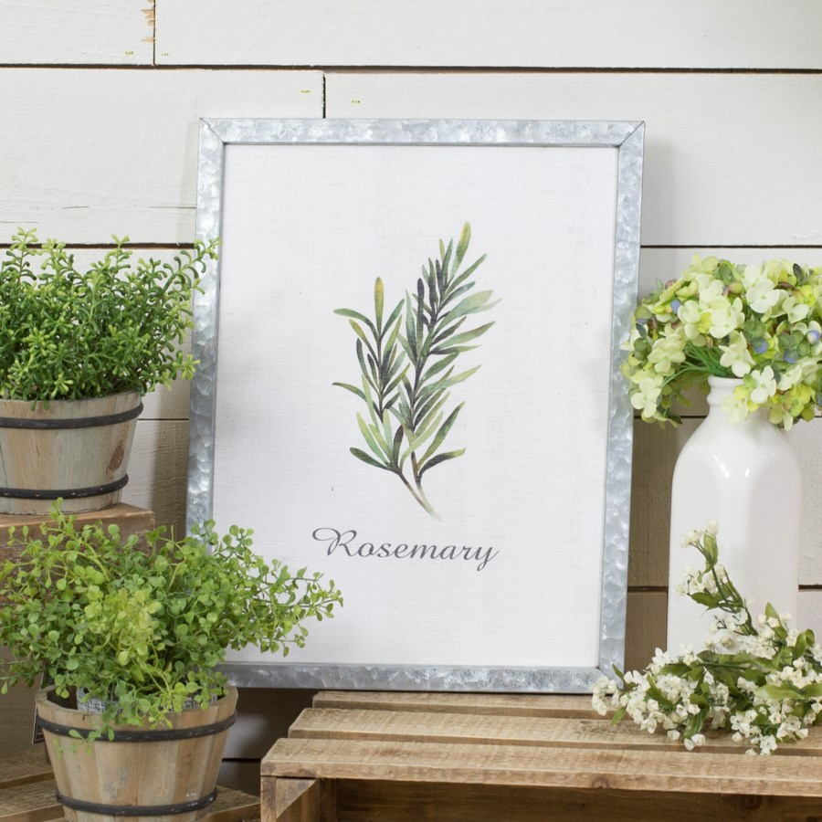 "MTL. FRAMED SIGN ""ROSEMARY"" (12/cs)"