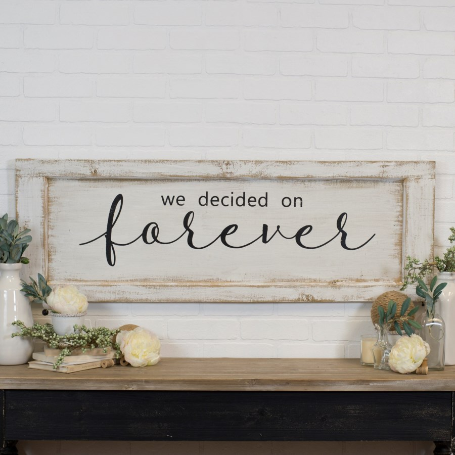 "WD. SIGN ""FOREVER"" (3/cs)"