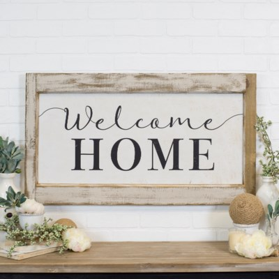 "WD. SIGN ""WELCOME"" (3/cs)"