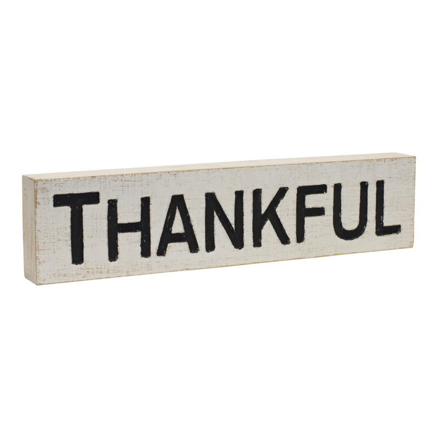 "WD. WORD ART ""THANKFUL"" (24/cs)"