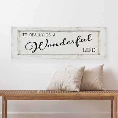 "WD. SIGN ""WONDERFUL LIFE"" (1/cs)"