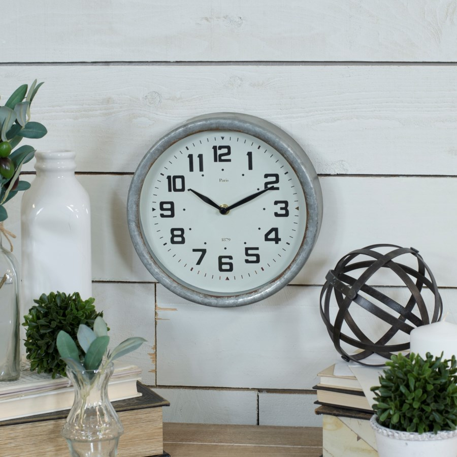MTL. FRAMED WALL CLOCK (16/cs)