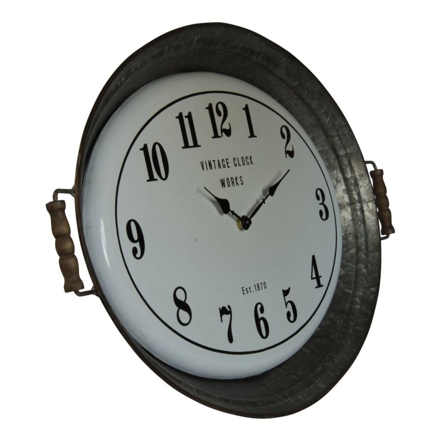 MTL. TRAY CLOCK (1/cs)