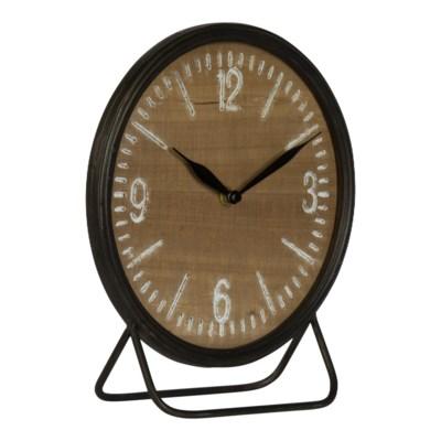 MTL./WD. TABLE CLOCK (8/cs)