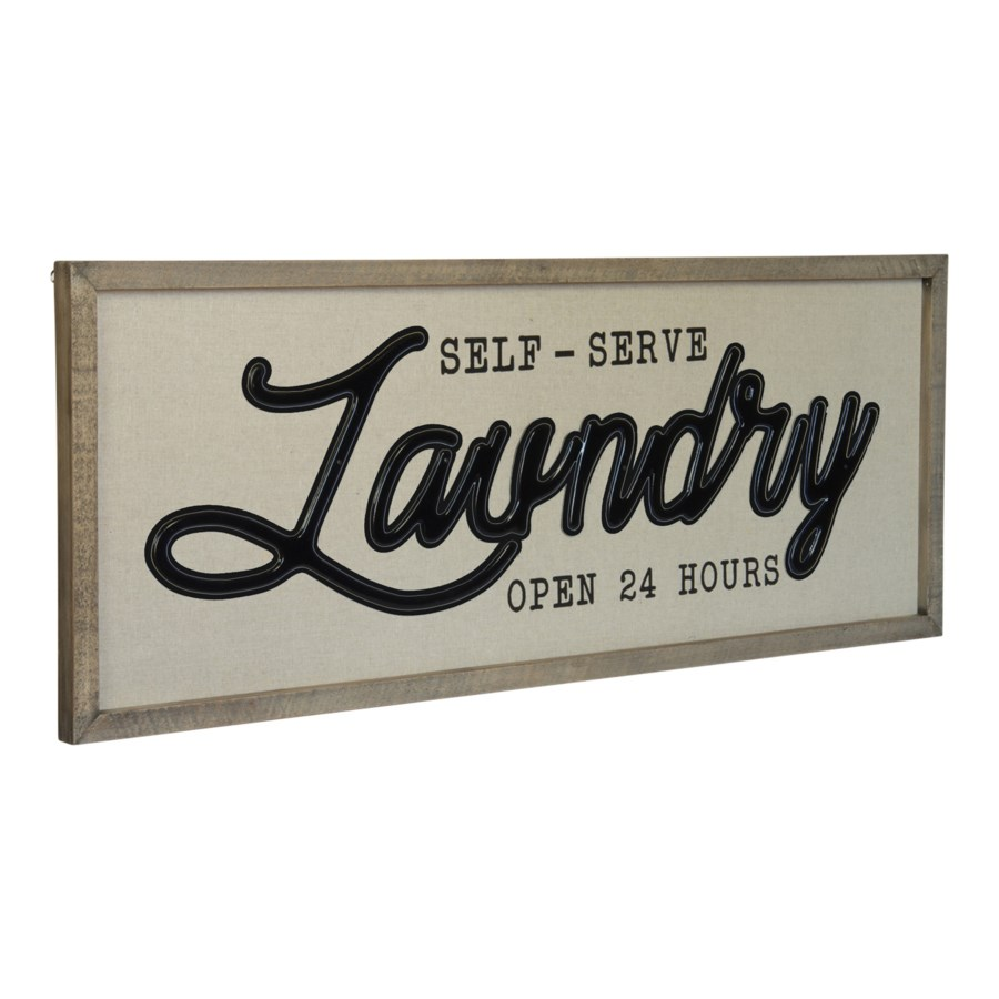"|WD. SIGN ""SELF SERVE LAUNDRY""