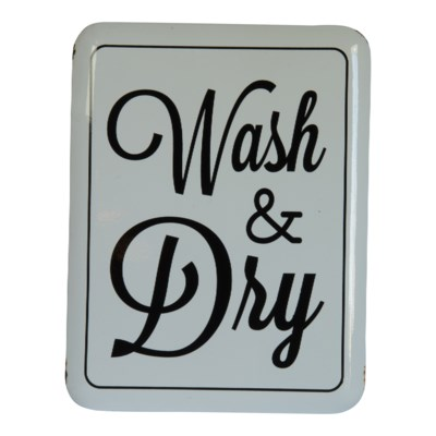 """MTL. SIGN """"WASH & DRY"""" (8/cs)"""