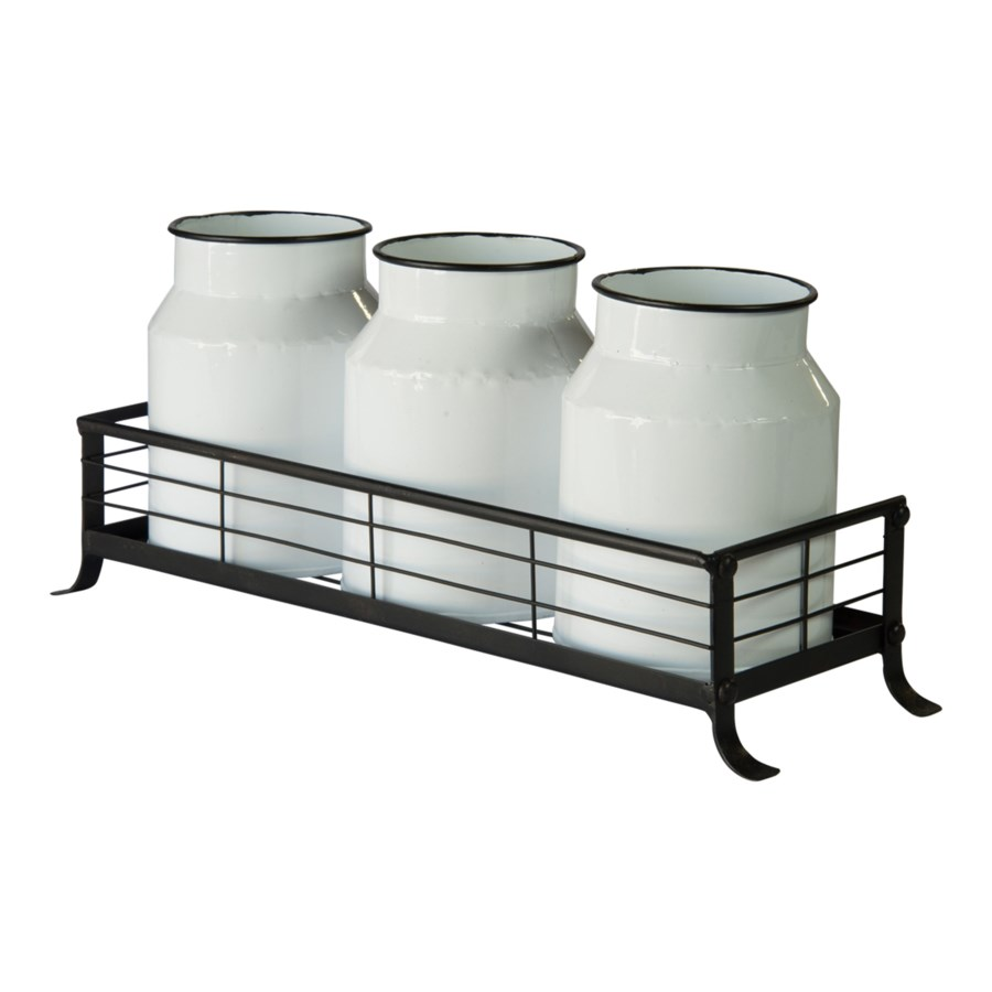 |MTL. CANISTERS W/ TRAY (8/cs)|