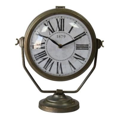 MTL. TABLE CLOCK (1/cs)