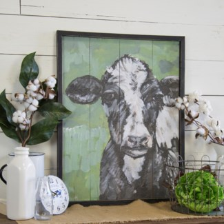 WD. COW SIGN GREEN (1/cs)